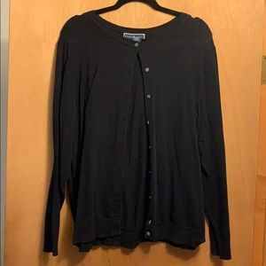 Karen Scott 1X Black Cardigan